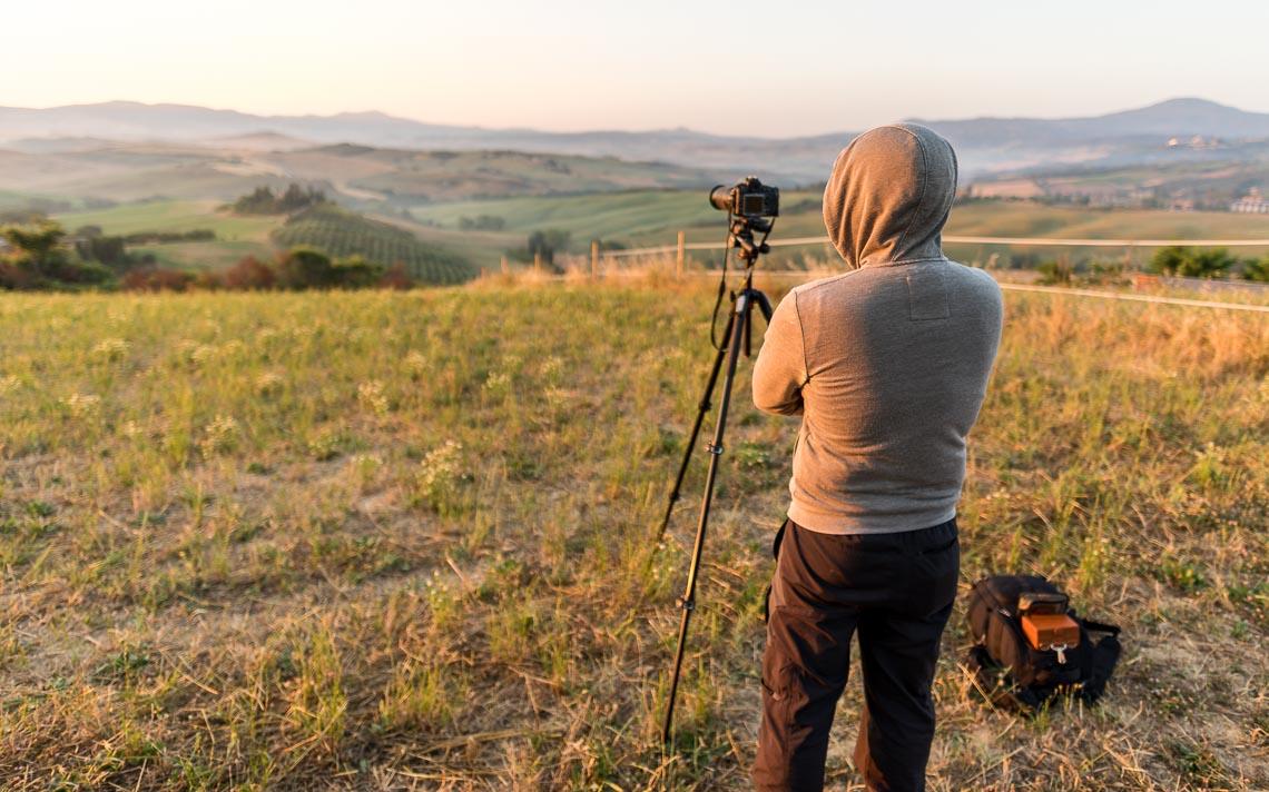 Val Orcia Toscana Nikon School Workshop Paesaggio Notturna Via Lattea Startrail 00054