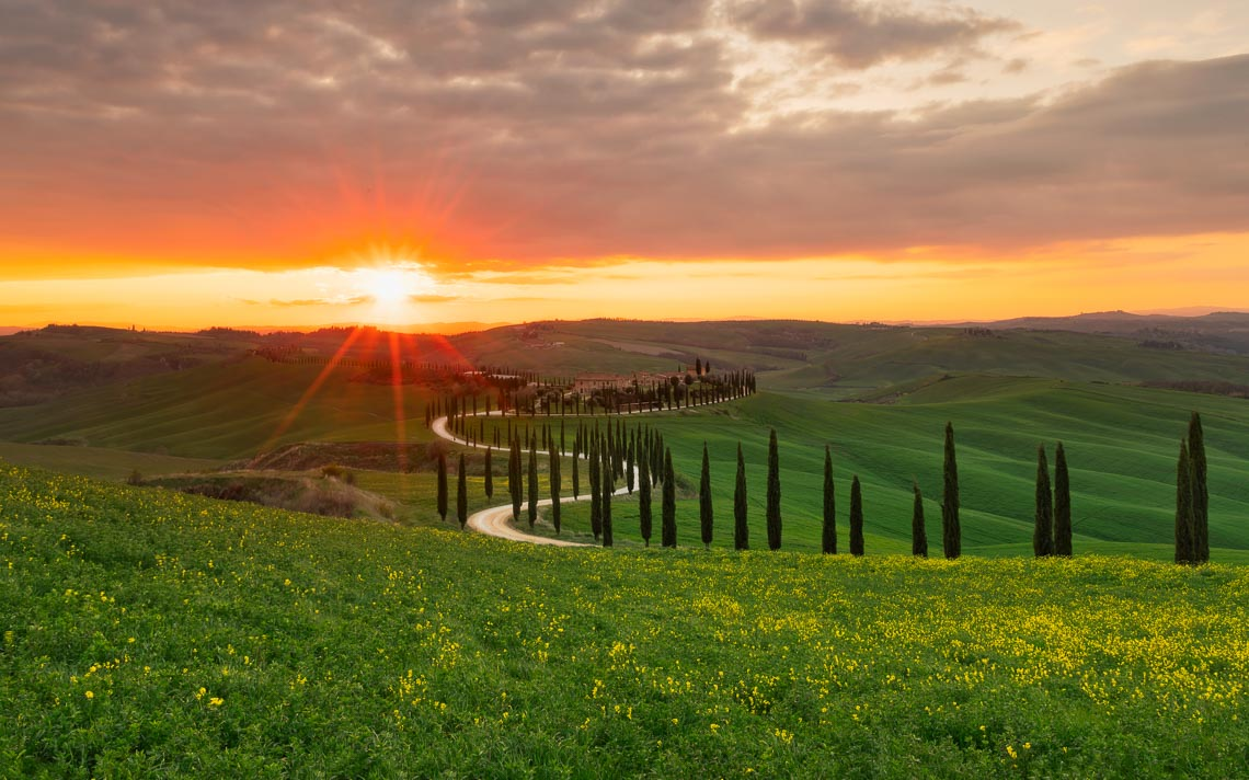 Val Orcia Toscana Nikon School Workshop Paesaggio Notturna Via Lattea Startrail 00076